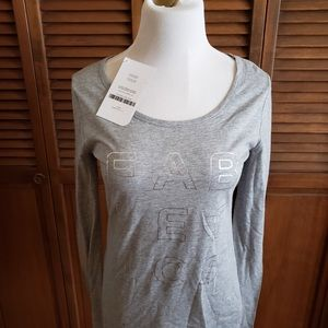 NWT, Fabletics branded grey long sleeve tee